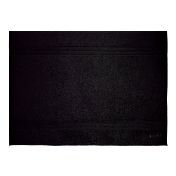 Loft Black Bath Collection by Hugo Boss | Fig Linens and Home - Black bath mat, rug