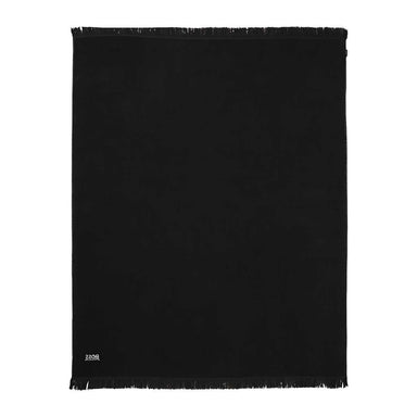 Wave Black Beach Towel by Hugo Boss | Fig Linens and Home - terry towel back