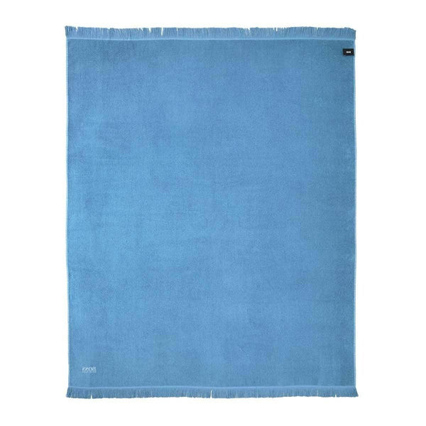Wave Blue Beach Towel by Hugo Boss | Fig Linens and Home - Back