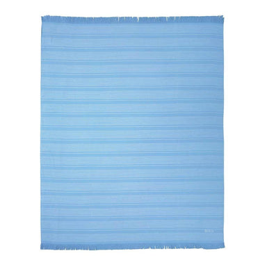 Wave Blue Beach Towel by Hugo Boss | Fig Linens and Home - Front