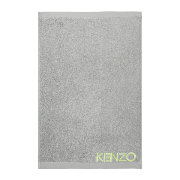 Iconic Mouette Light Gray Bath Sheet by Kenzo | Fig Linens