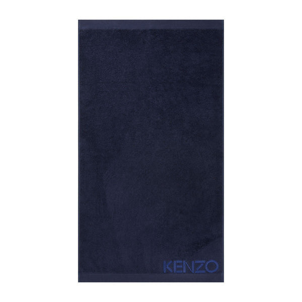 Iconic Navy Blue Bath Sheet by Kenzo | Fig Linens