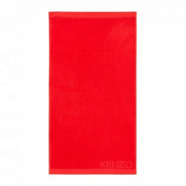 Iconic Rouge Red Bath Sheet by Kenzo | Fig Linens