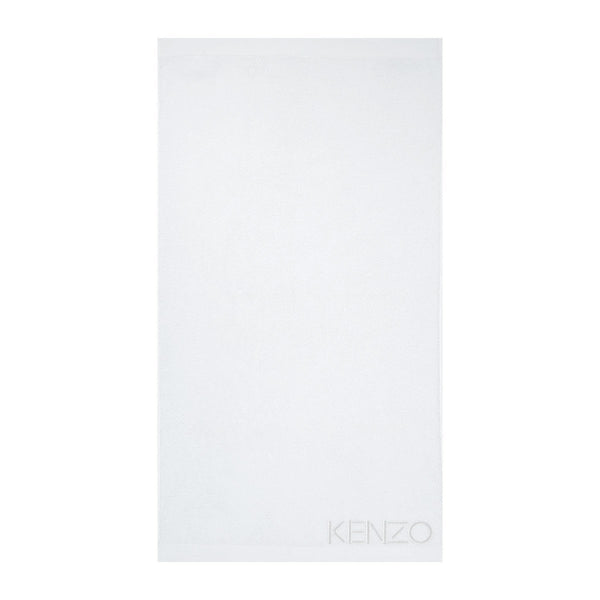 Iconic White Bath Sheet by Kenzo | Fig Linens