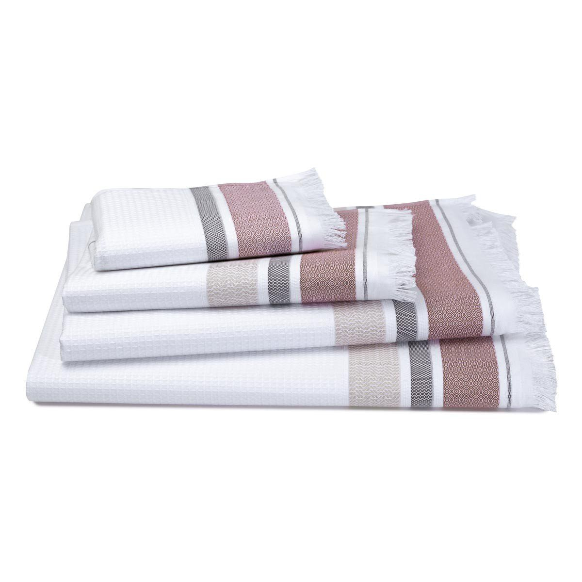 Le Jacquard Français | Folk Camel Bath Collection | Fig Linens - Hand Towel, Bath, Guest Towel