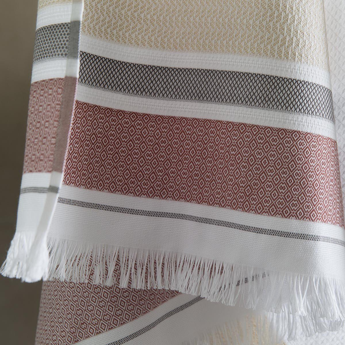 Le Jacquard Français | Folk Camel Bath Collection | Fig Linens - Towel with Fringe