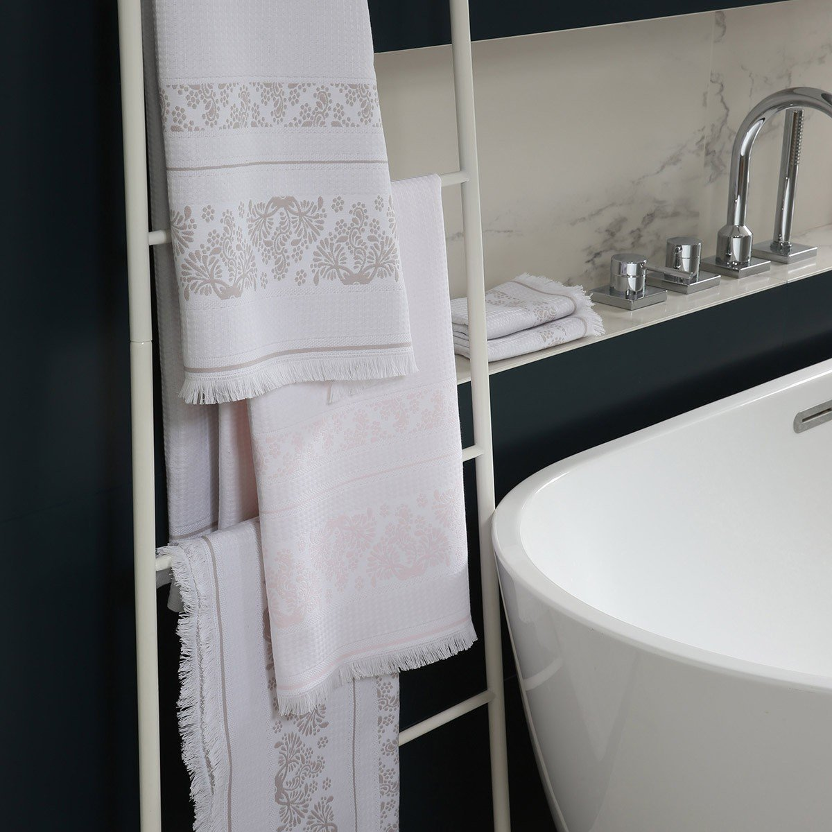 Formentera Cloud Gray Bath Collection | Fig Linens