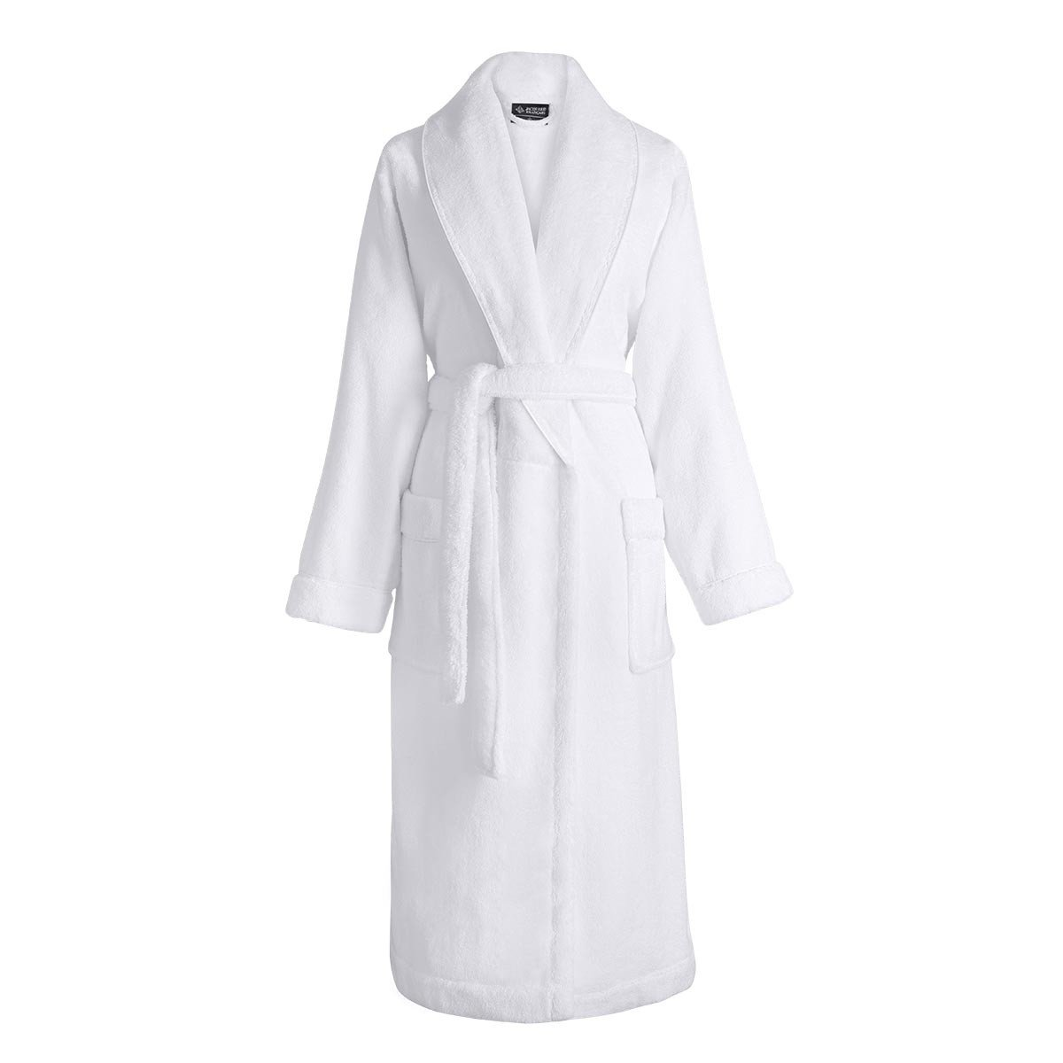 Caresse White Bathrobe by Le Jacquard Français | Fig Linens