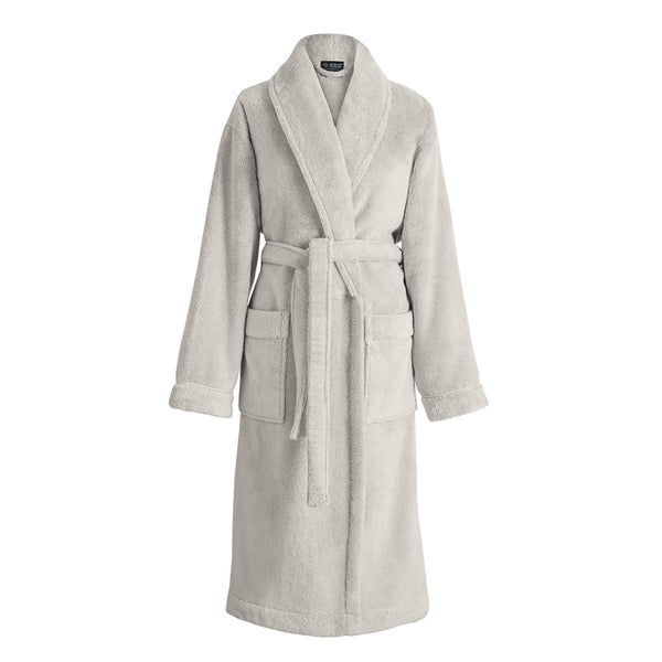 Caresse Linen Beige Bathrobe by Le Jacquard Français | Fig Linens - Robe with pockets and belt