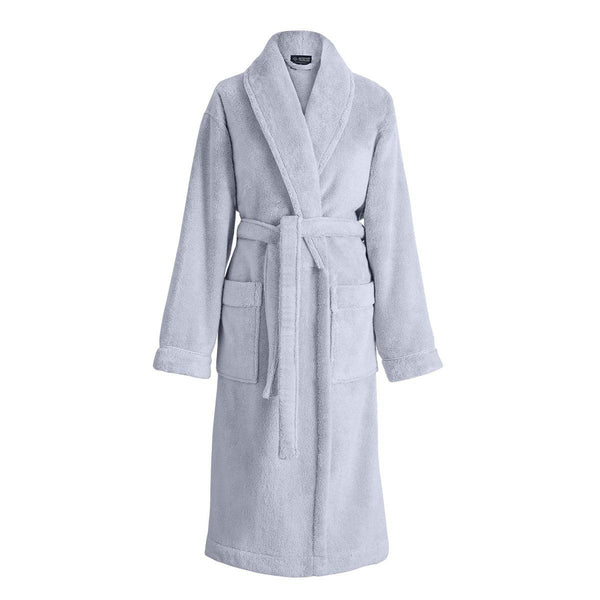 Caresse Cloud Gray Bathrobe by Le Jacquard Français | Fig Linens - Bath Robe Front