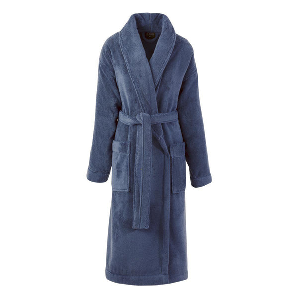 Caresse Orient Blue Bathrobe by Le Jacquard Français | Fig Linens