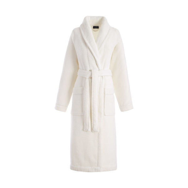 Caresse Ivory Bathrobe by Le Jacquard Français | Fig Linens