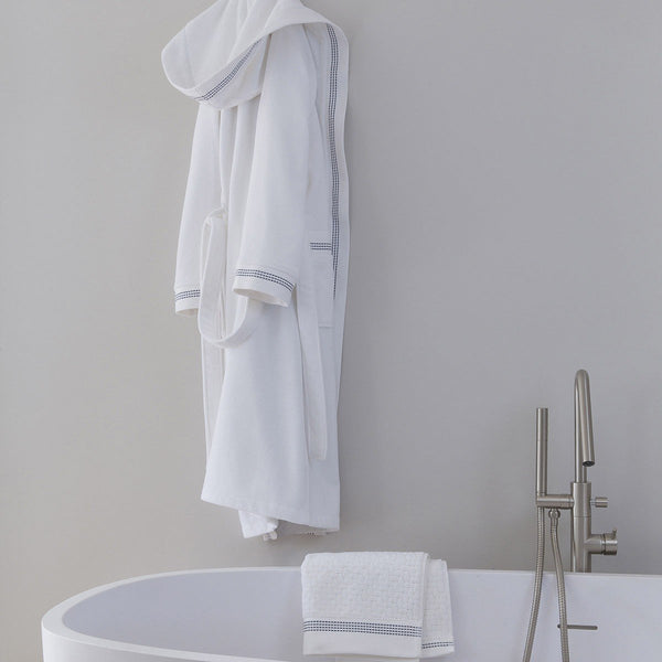 Couture White Bathrobe by Le Jacquard Français | Fig Linens - Bath Robe