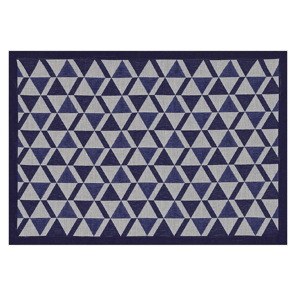 Le Jacquard Français Table Linen Bistronome Placemats - Fig Linens - Blue coated outdoor placemat