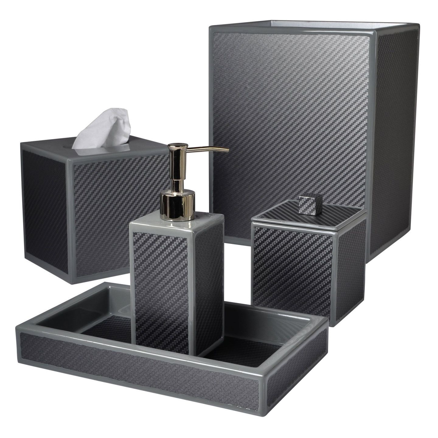 Le Mans Graphite Bath Accessories by Mike + Ally