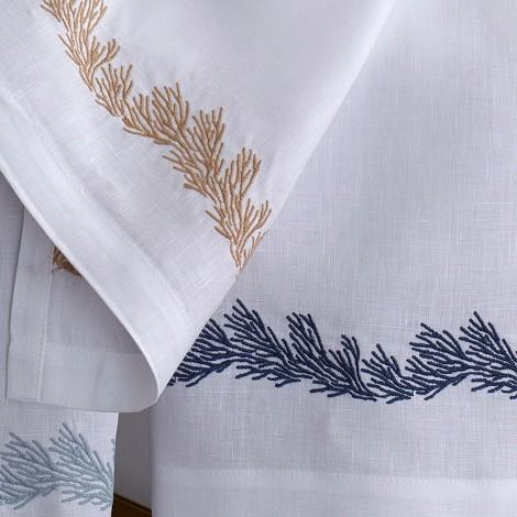 Atoll Linen Guest Towels by Matouk - Fig Linens