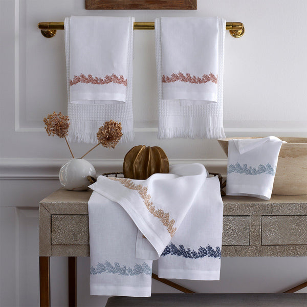 Matouk Atoll Linen Guest Towels | Fig Linens and Home