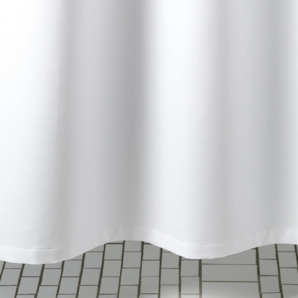 Birdseye Pique White Shower Curtain by Matouk | Fig Linens