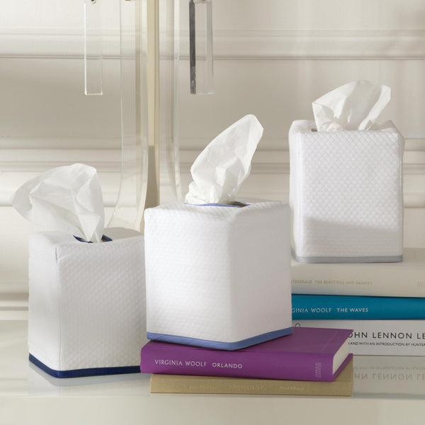 Matouk Chiaro Tissue Box Cover | Fig Linens and Home