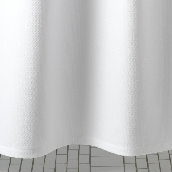 Diamond Pique White Shower Curtain by Matouk | Fig Linens
