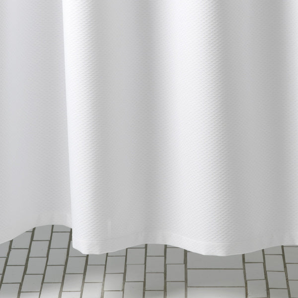 Lanai White Shower Curtain by Matouk | Fig Linens and Home