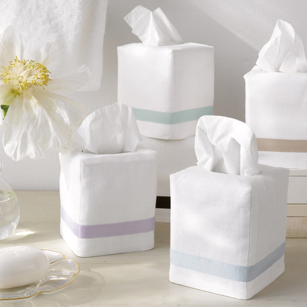 Matouk Lowell Tissue Box Covers | Fig Linens and Home