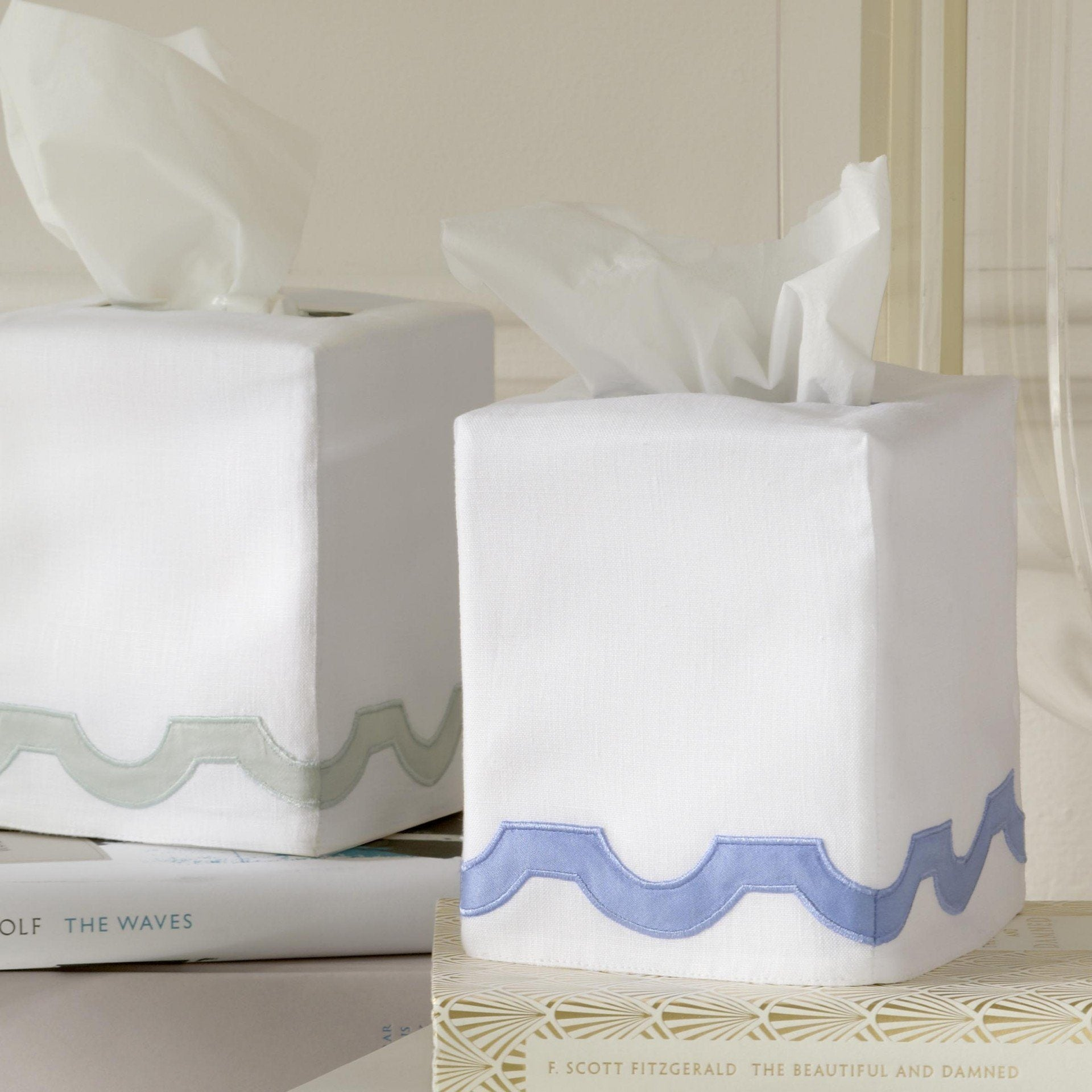 Mirasol Tissue Linen Tissue Box Covers by Matouk - Fig Linens