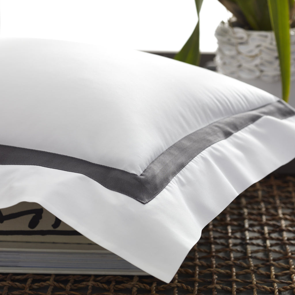 Lowell Black and White Bedding - Shams by Matouk | Fig Linens