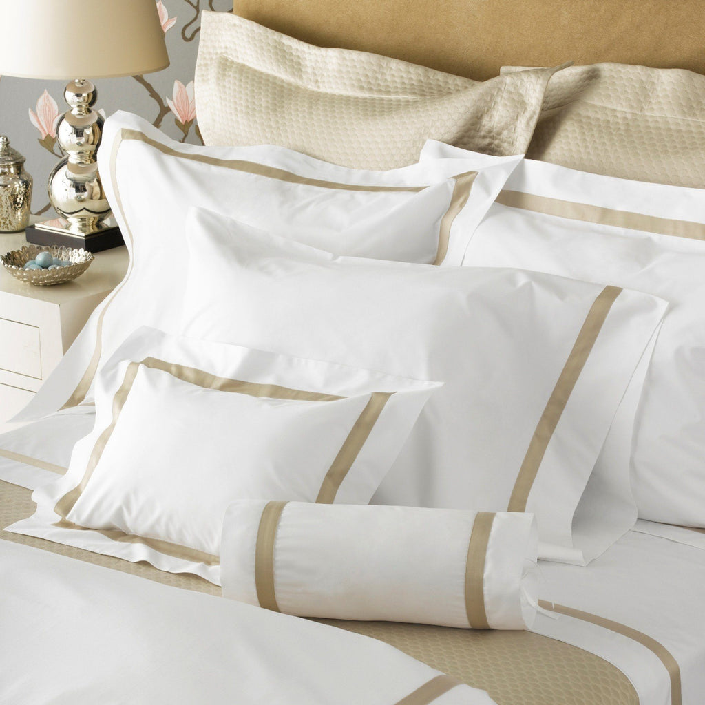 Lowell Champagne Bedding by Matouk - Fig Linens and Home