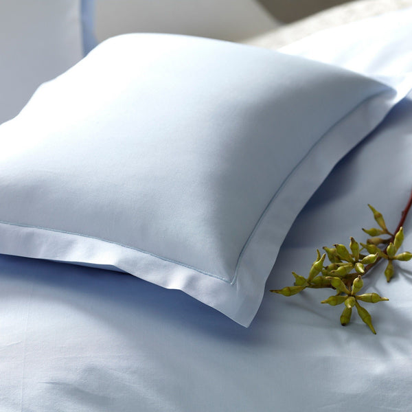 Matouk Bedding - Luca Satin Stitch Sky Blue Sheets & Cases | Fig Linens
