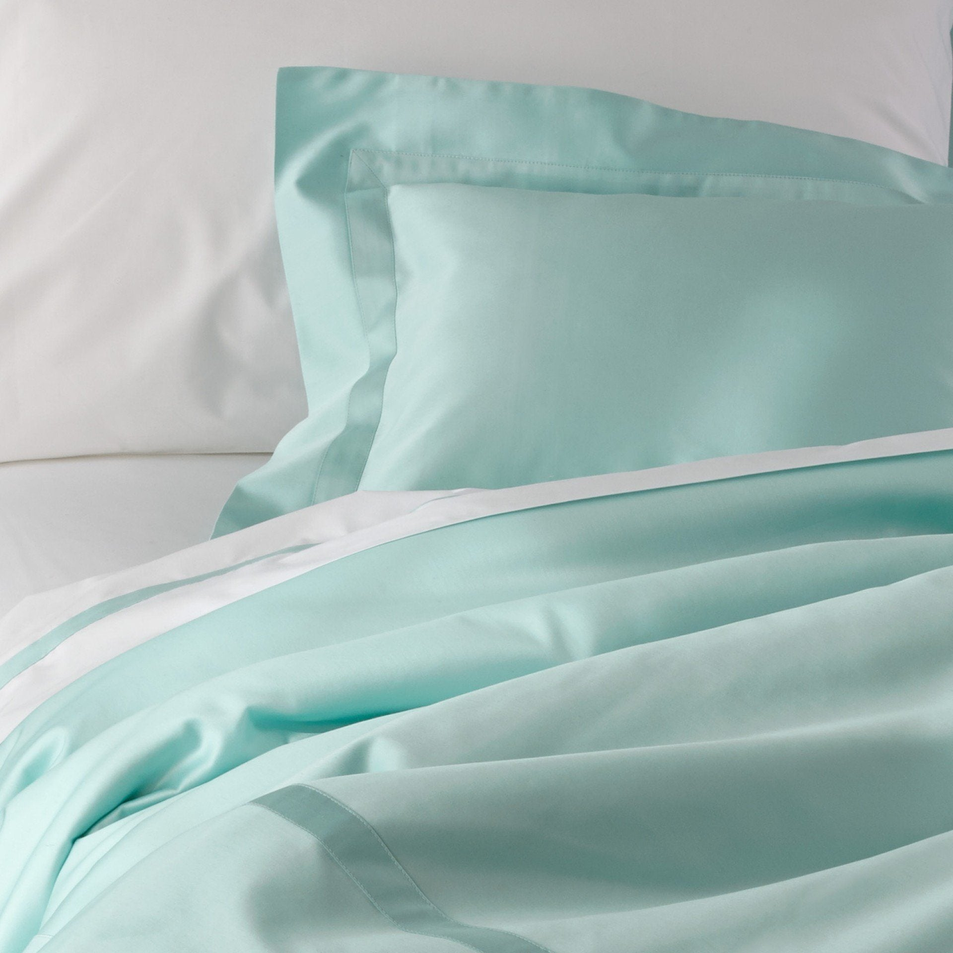 Nocturne Lagoon Blue Bedding by Matouk | Fig Linens and Home