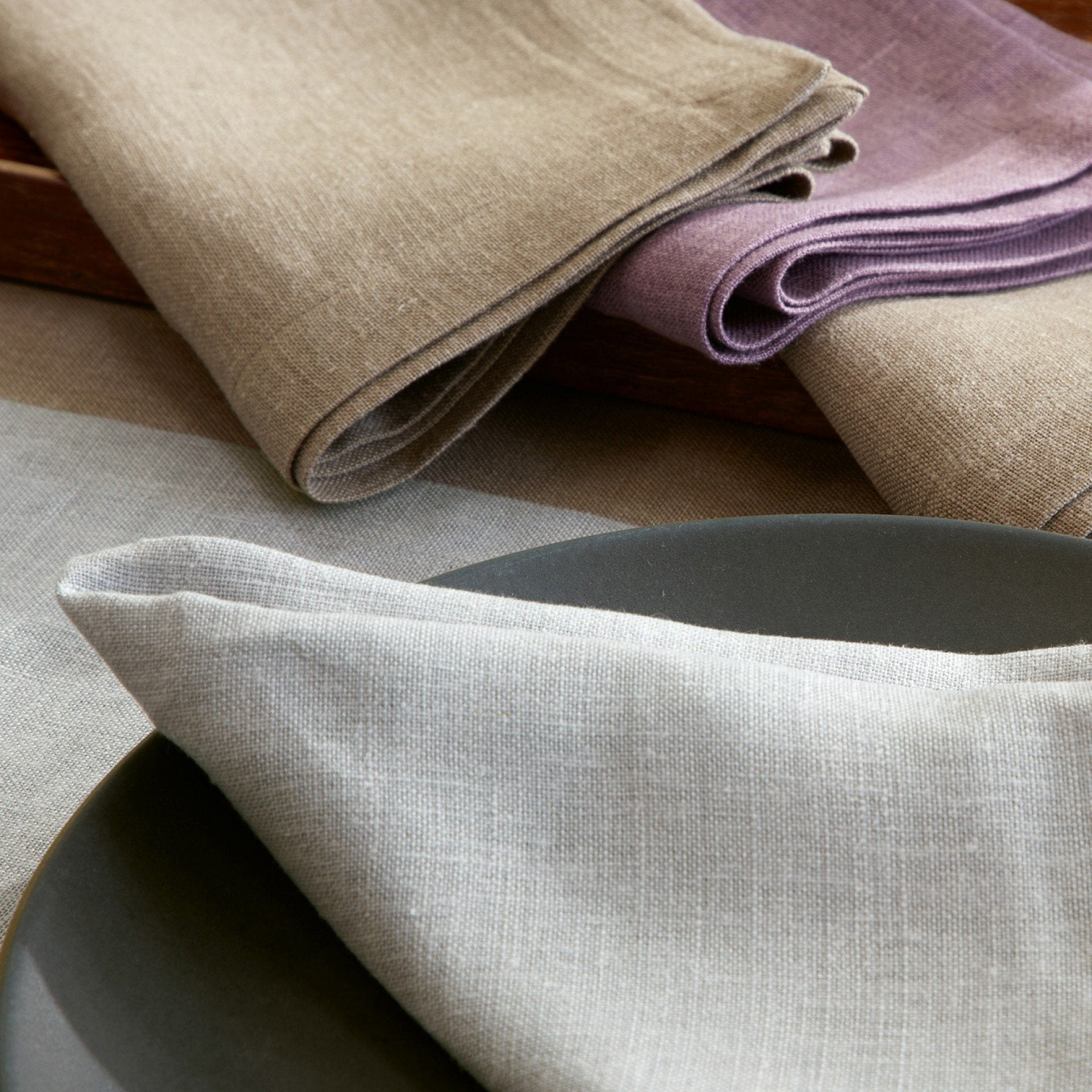 Linen blend napkin by Matouk | Chamant Table Linen Collection | Fig Linens