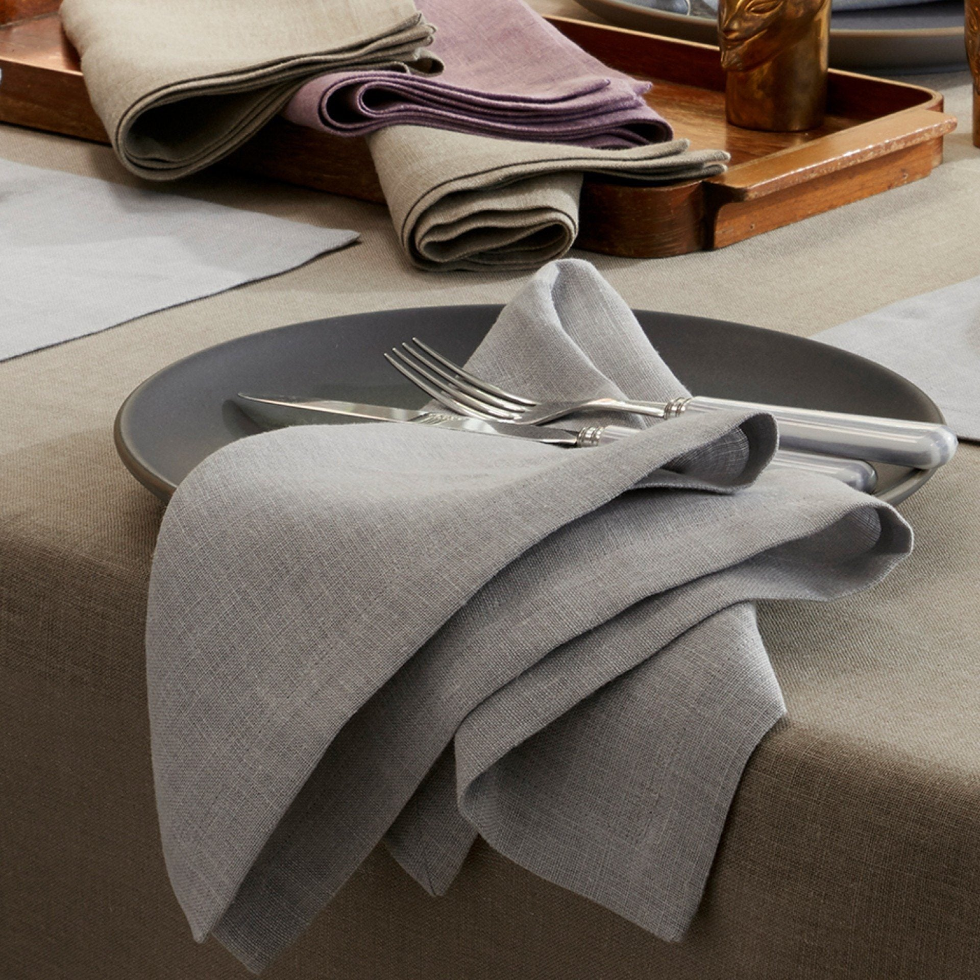 Matouk | Chamant Table Linen Collection | Fig Linens