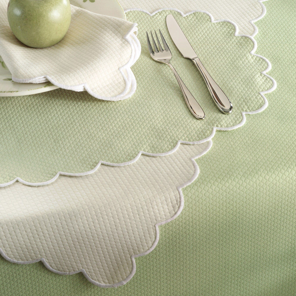 Savannah Gardens Green Round Tablecloths by Matouk - Fig Linens and Home