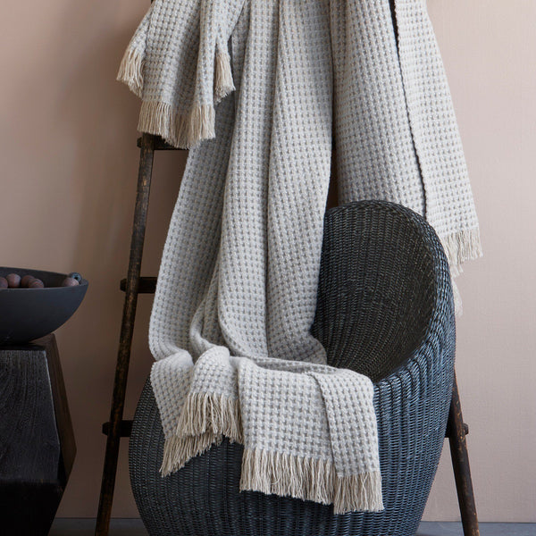 Cleo Cashmere Throw by Matouk | Fig Linens and Home