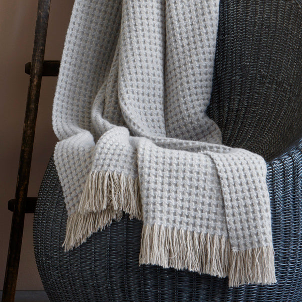 Cashmere Throw with Fringe - Cleo by Matouk - Fig Linens and Home