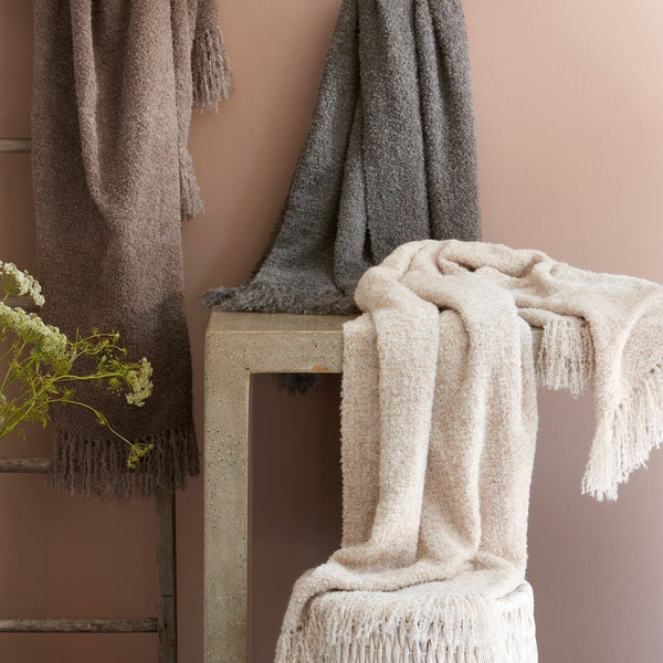 Clooney Alpaca Throw by Matouk | Fig Linens and Home