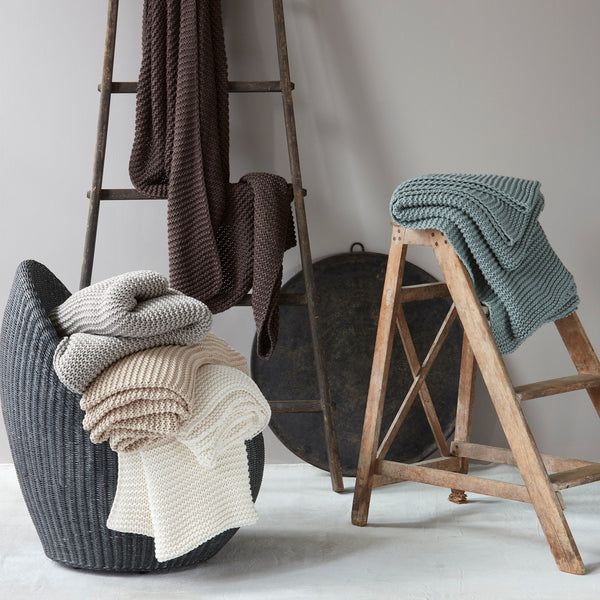 Matouk Orla Throw - Chunky Knit Throw Blankets | Fig Linens