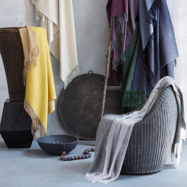 Paley Cashmere Throw by Matouk | Fig Linens and Home