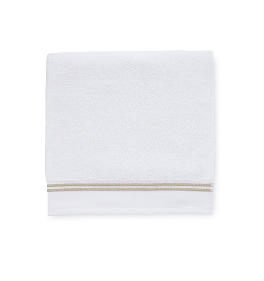 Aura White & Almond Bath Towels