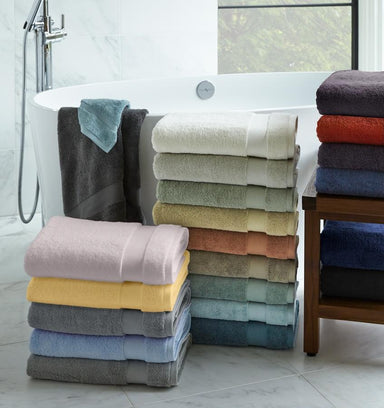 Bello Bluebell Bath Towels by Sferra | Fig Linens and Home