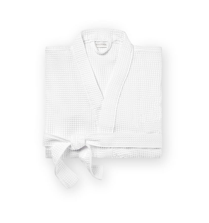 White waffle bath robe with belt - Edison by Sferra - Fig Linens