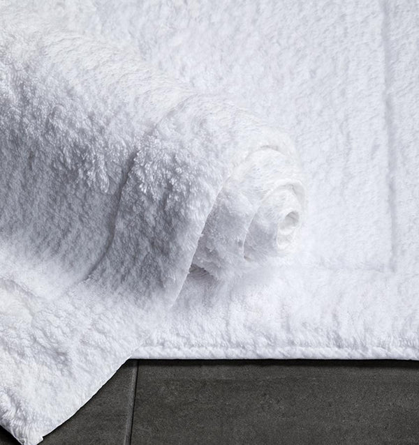 Maestro White Bath Rug by Sferra | Fig Linens and Home