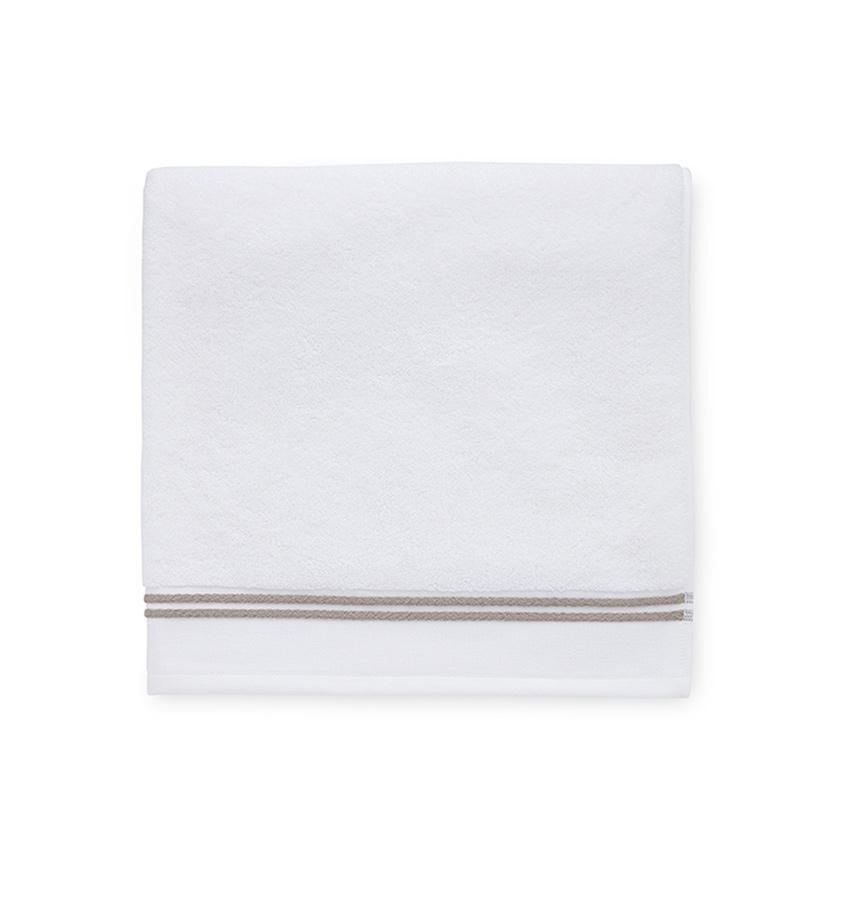 Aura White & Stone Bath Towels