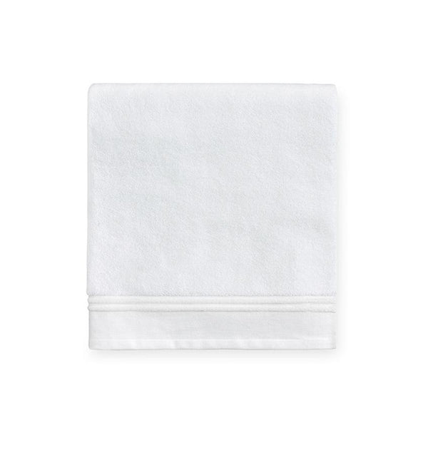 Aura White Bath Towels by Sferra - Fig Linens