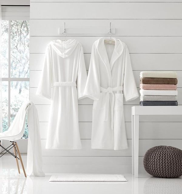 Canedo White Bathrobe by Sferra |  Fig Linens and Home