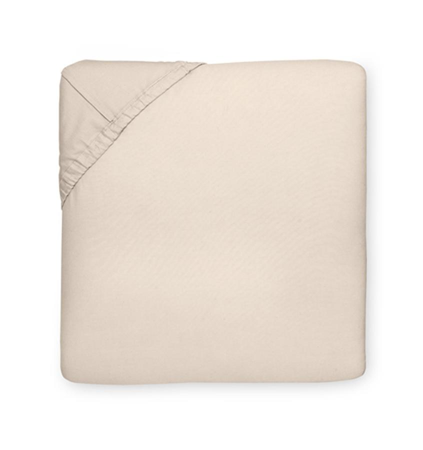 Celeste Sheeting by Sferra | Fig Linens - Fitted sheet mushroom taupe