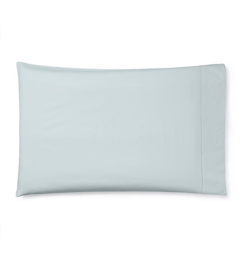 Celeste Sheeting by Sferra | Fig Linens - Pillowcase ice blue