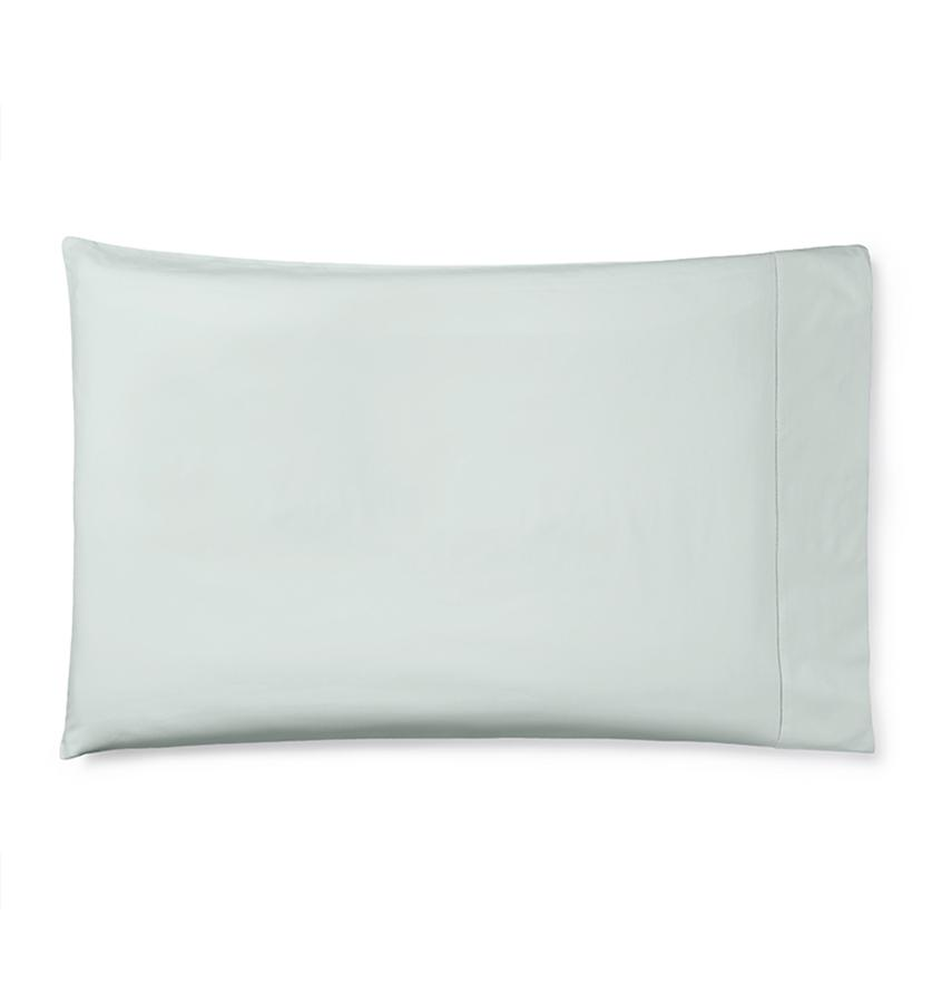Celeste Sheeting by Sferra | Fig Linens - Pillowcase silver sage green