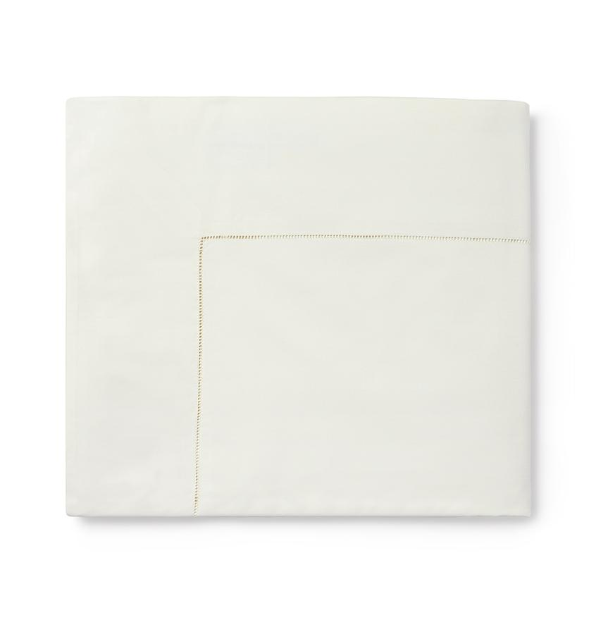 Celeste Sheeting by Sferra | Fig Linens - Ivory flat sheet